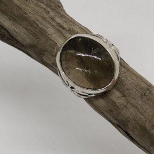 Sterlingsilverring med oval turmalin kvarts sten